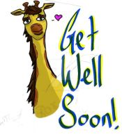 get well soon giraffe by wildwillowoods
