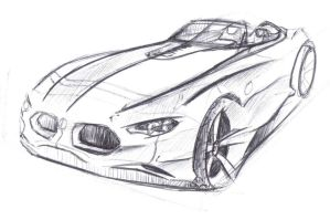 BMW Z Roadster sketch by dyrborgdesign