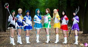 Rainbow Sailor Senshis by FairyDustProductions