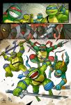 Teenage mutant ninja turtles test page 5 by OscarCelestini