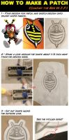 How to make a Patch (Charmy the Bee vest logo) by Xaolin26