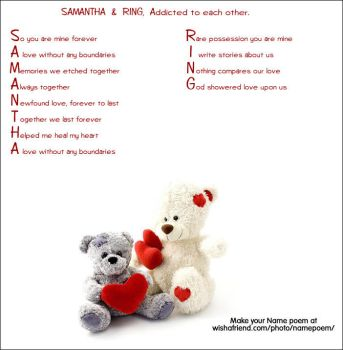 Ring and Samantha's love poem by moonofheaven1