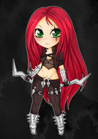 Chibi Katarina - League of Legends by linkitty
