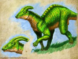 Parasaurolophus by TheDragonofDoom