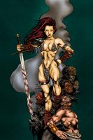 Red-Sonja Colored by likwidlead
