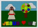 Fuzzy Felt Jesus Loves Me by he4rty