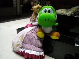 Peach and Yoshi by LittleMarin