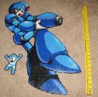 Mega Man X Bead Art by ShampooTeacher