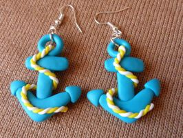 Turquoise anchors by amalie2