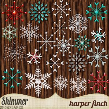 Shimmer, Snowflakes by harperfinch