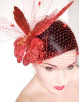 Burlesque Butterfly Hairpiece by rascalkosher