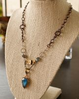 Labradorite Steampunk Necklace by CrystalKittyCat