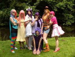 MLP Cosplay: Mane6 by Azalais