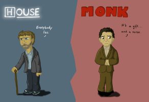House and Monk by Anika83