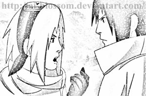 sasusaku fight~ by ai-Blossom