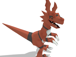 MMD Guilmon -dl- by Cherrysan94