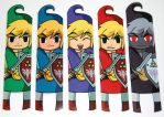 The Legend of Zelda Four Swords Bookmarks by knil-maloon