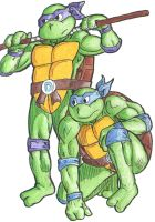 Donatello and Leonardo B2P68 by pedlag