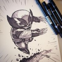 Commission - Wolverine by DerekLaufman