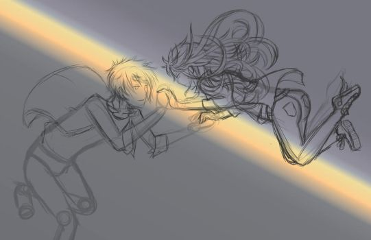 Falling Together WIP by koreanGartist1234