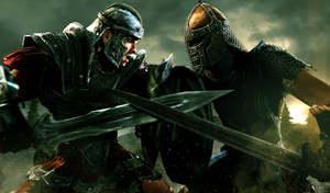 The Bulk of the Empire Vs The Son of Skyrim by LordHayabusa357