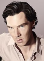 Benedict Cumberbatch: Digital Portrait by Bonnie-Wonder