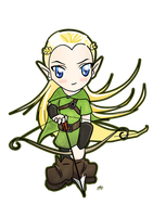 Legolas Chibi with Bow by Tildhanor