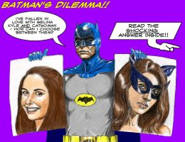 Jeff Winger as Batman, Annie as Catwoman by Nick-Perks