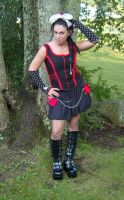 Black top with red accents by funkyfunnybone