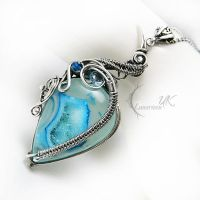 LAKE OF PHALTAVIRTH silver , agate, topaz, apatite by LUNARIEEN