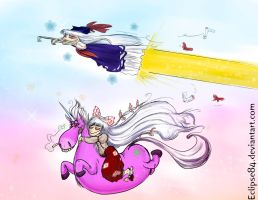 AT: Keine and Mokou -on drugs- by Eclipse84