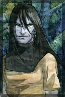 Orochimaru in the forest by Sikarbi