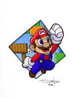 super mario by enolianslave