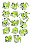 Vinnie the dragon expression sheet by BeeTrue