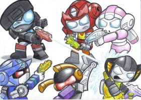 TRANSFORMERS SQUIRTS by victortky
