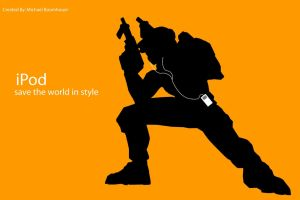 iPod Ad Spoof - Halo by mac-man