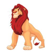 Simba Audlt Color and Shaded 1 by Samoht-Lion