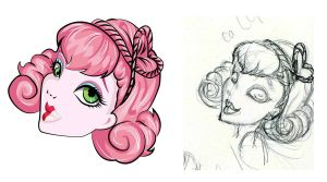 Monster High In Progress- C.A. Cupid head by KCretcher