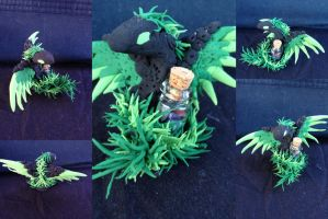 Seoraat - Winged Serpent Statue by SonsationalCreations