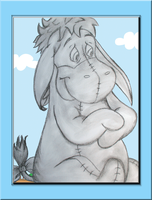 Eeyore Charcoal Framed by WDWParksGal