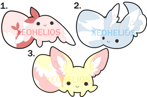 Fluffy Hatchling Adoptables Set 1: CLOSED by Xeohelios