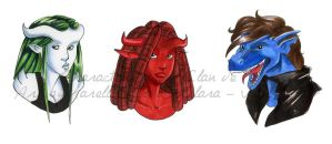 Paris Clan marker portraits 2 by coda-leia
