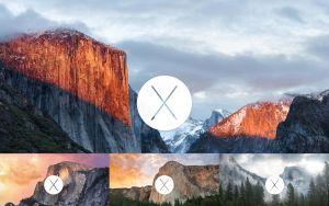 OSX Wallpapers with 'OSX' logo. by roajah