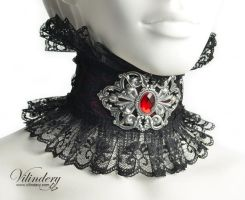 Red Vampire collar by vilindery
