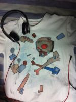 a newly painted T-shirt(front) by LittleXevy