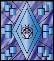 Decepticon Stain Glass Window by srg1
