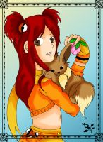 Dalia and Eevee by Cherry-Pandax3