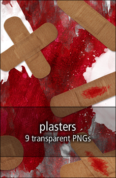 plasters - pngs by rainbows-stock