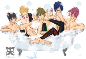 Rub-a-dub-dub 5 bois in a Tub by mind-crash