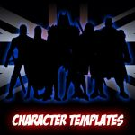 Superhero Character Templates by MrHades